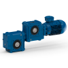 Special helical worm geared motor
